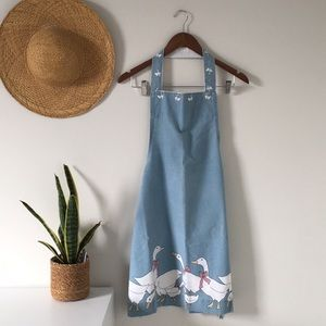 Handmade Country Geese Cotton Apron